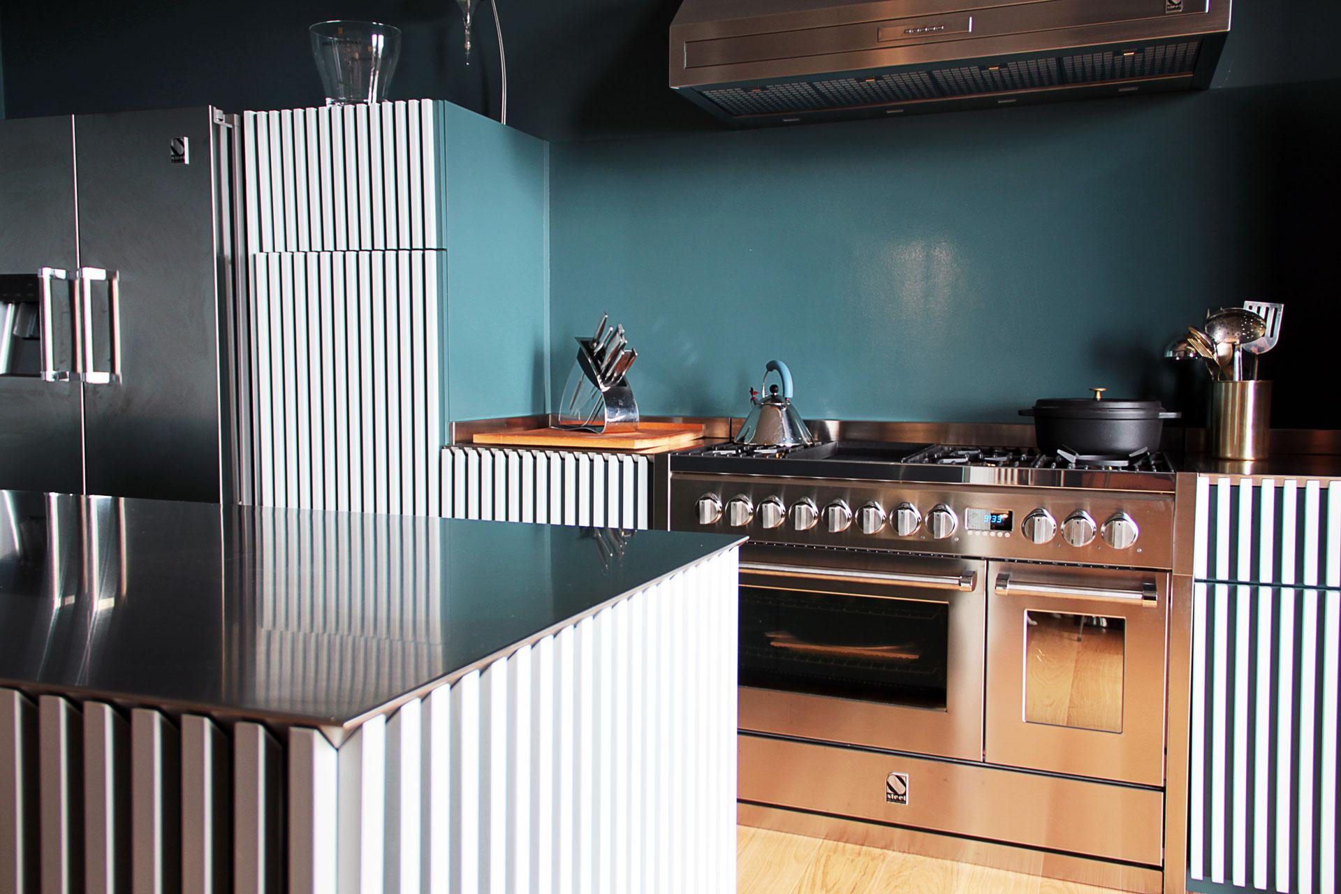Steel-cuisinière